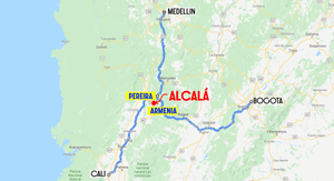 Alcala Colombie route