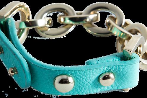 Leather Stack Bracelet (Turquoise)