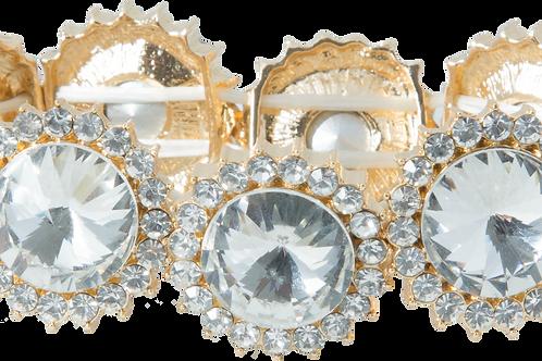 Gold Swarovski crystal flex bracelet