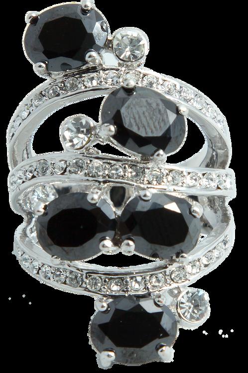 Black Onyx Capri Ring (Size 8)