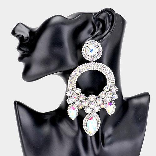 Moissanites Silver Ashley Earrings