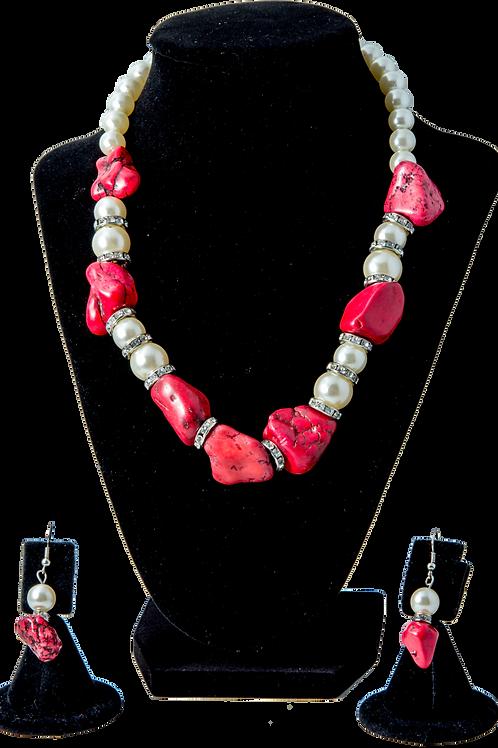 Simi-Precious Red Bead Set