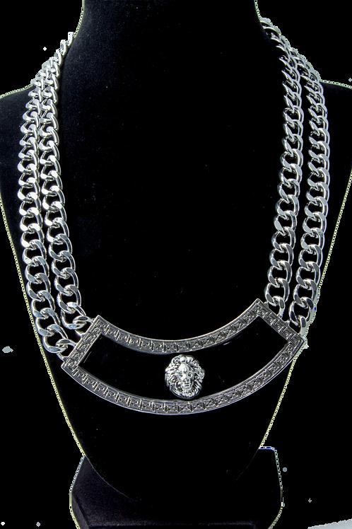 Silver /Black Link Chain