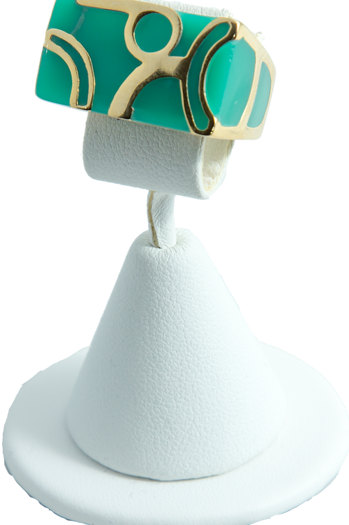 Lattice Turquoise Ring