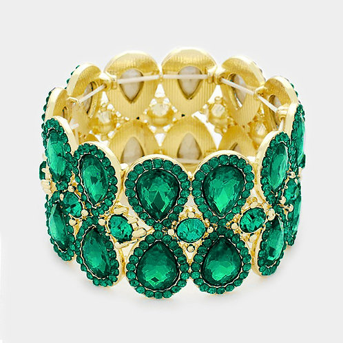 Emerald Tear Drop Bracelet