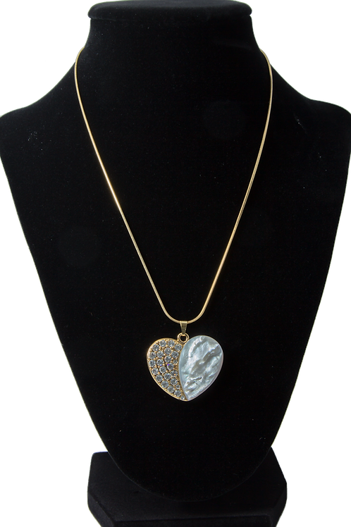 Gold oyster heart Necklace