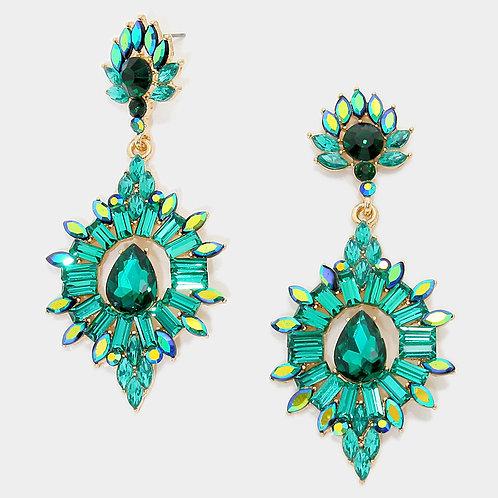 Sydney Emerald Earrings