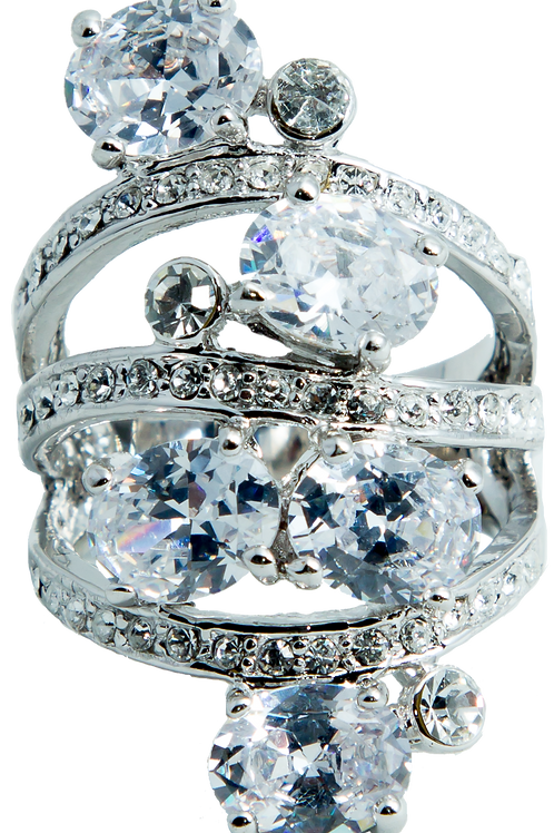 Pave Crystal Ring