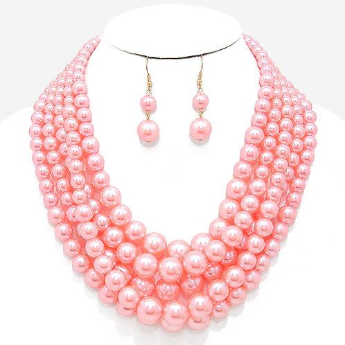 Pink Multi-Strand Pearls