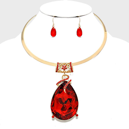 Red Teardrop Necklace