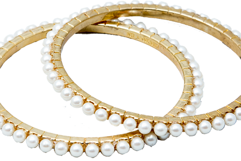 Gold/Pearl Bangles (Set)