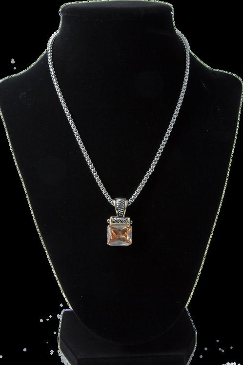 Silver Topaz Amethyst Chain