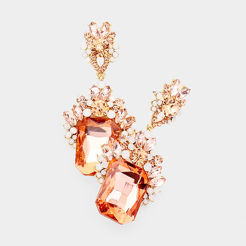 Rose Gold Crystal Earrings