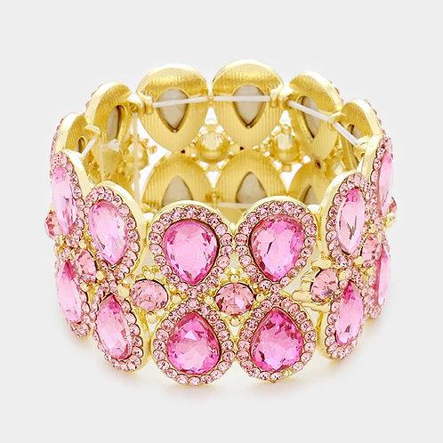 Pink Diamond Teardrop Bracelet