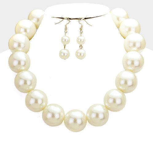 Chunky Ivory Pearls