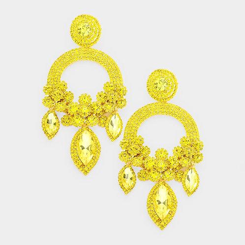 Yellow Ashley Earrings
