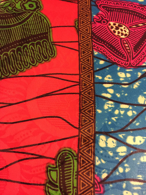 Orange Pop African Fabric