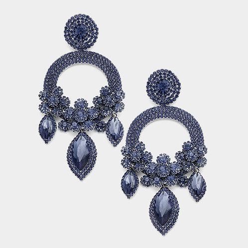 Navy Ashley Earrings