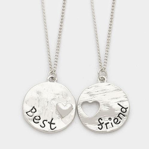 Silver Best Heart Message Set