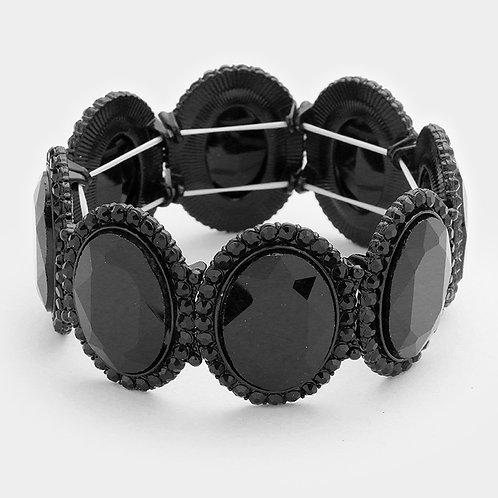 Oval Crystal Bracelet