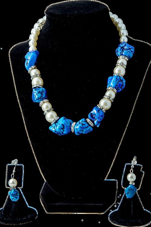 Semi-Precious Blue Bead Set