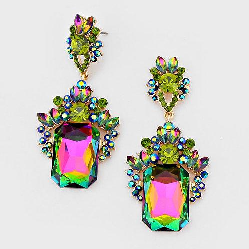 Peacock Crystal Earrings