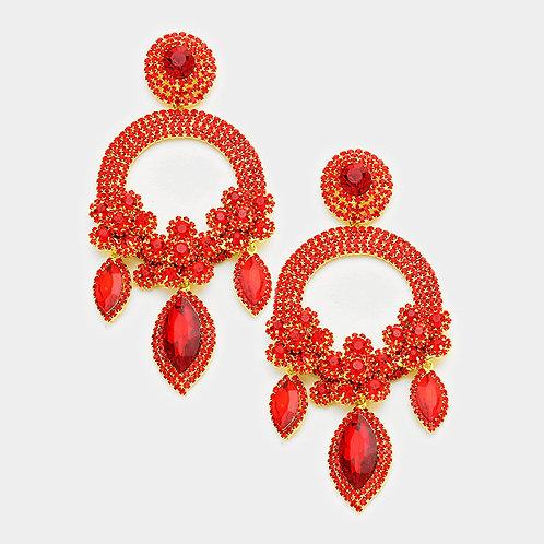 Red Ashley Earrings