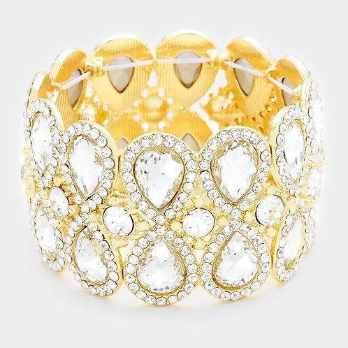 Gold Teardrop Bracelet