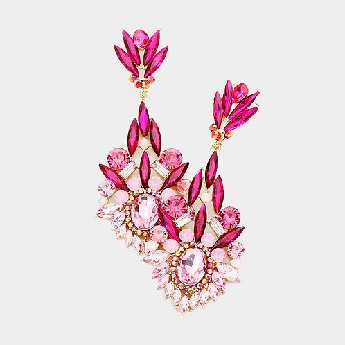 Jessica Rose Pink Evening Earrings