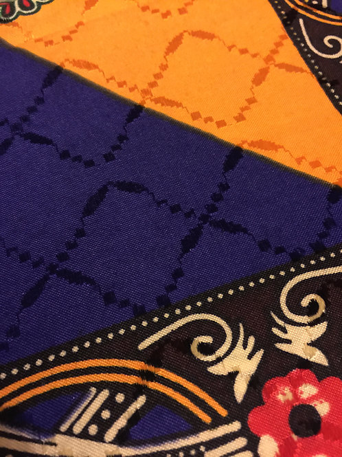 Purple & Gold Prestige African Fabric
