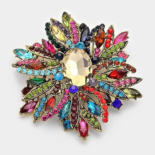 Maria Glass Flower Brooch