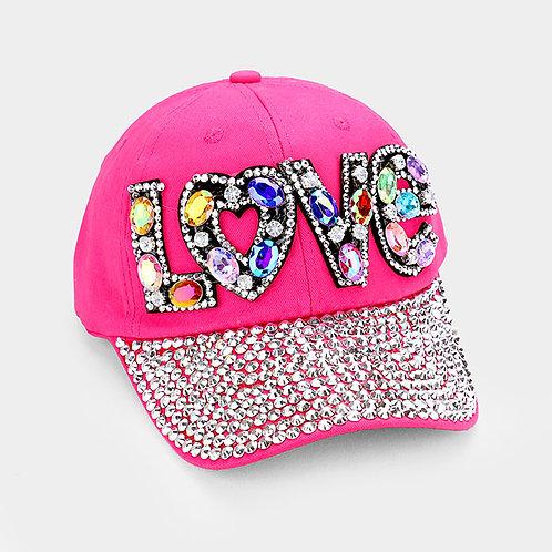Pink Love Hat