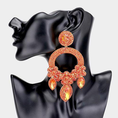 Orange Ashley Earrings