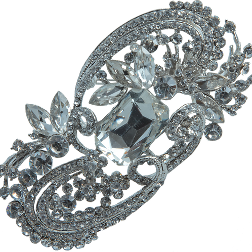 Treasure Floral Crystal Brooch