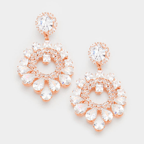 Rose Gold Alexa Earrings