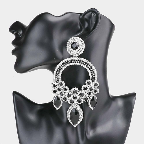 Black & Silver Ashley Earrings