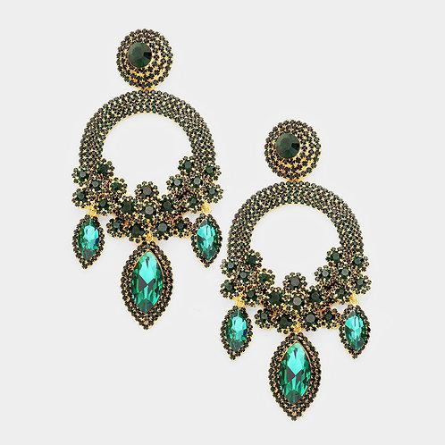 Emerald Green Ashley Earrings