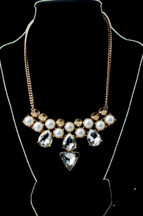 White Diamond Herringbone Chain