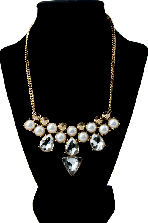 Elegant Pearl Crystal Chain
