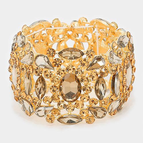Topaz Crystal Evening Bracelet