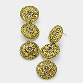 Rosette Evening Earrings