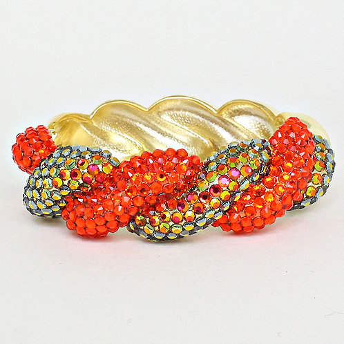 Orange Fun Diamond Bangle