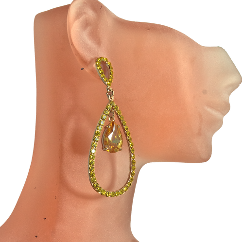 Yellow Antique Earrings