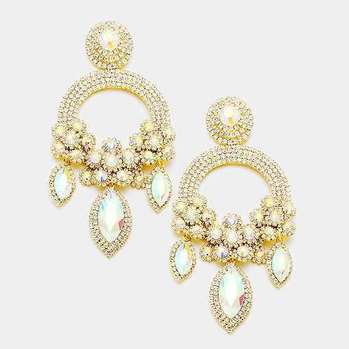 Moissanites Gold Ashley Earrings