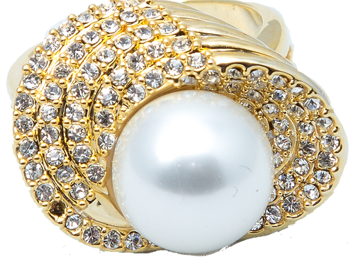 Pearl Diamond Gold Ring