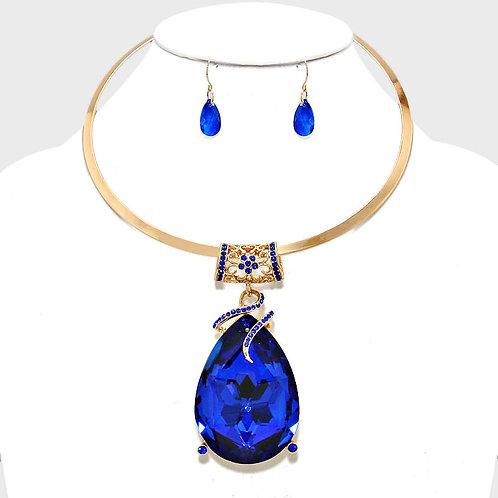 Royal blue Teardrop Necklace