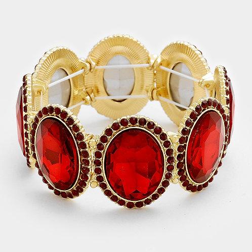 Read Oval Diamond Bracelet