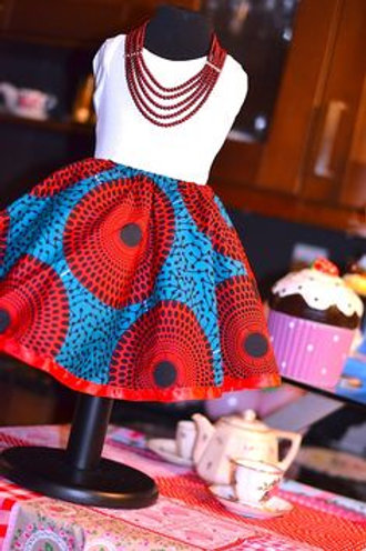 Mosi African Mini Skirt