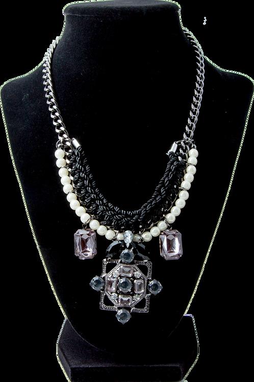 Pyramid Woven Necklace