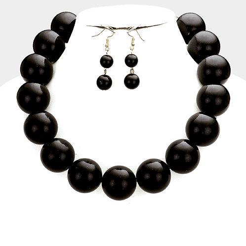 Chunky Black Pearls